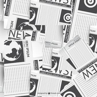 Vector collage de periódico