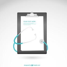 Vector con estetoscopio para descarga gratuita