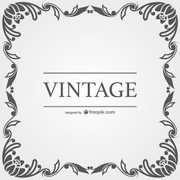 Vector con marco vintage
