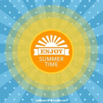 Vector con sol para el verano