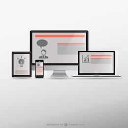 Vector conceptual de diseño responsivo