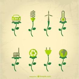 Vector conceptual de industria ecológica