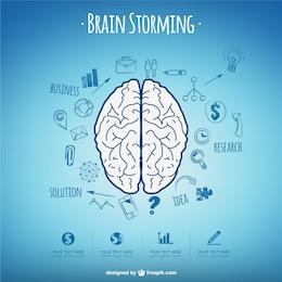 Vector conceptual de tormenta de ideas