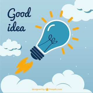 Vector creativo de buena idea