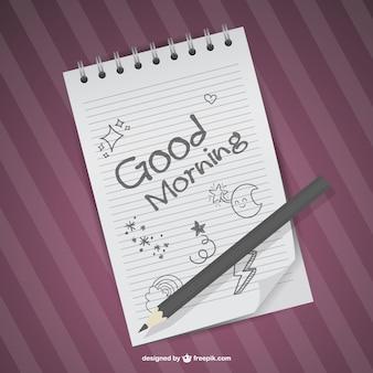 Vector de buenos días dibujado a mano