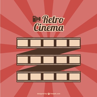 Vector de cine retro con rollo de película