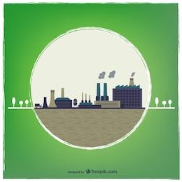 Vector de ciudad industrial