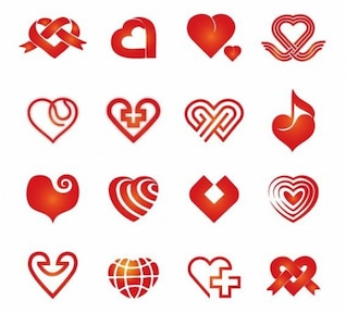 vector de corazones