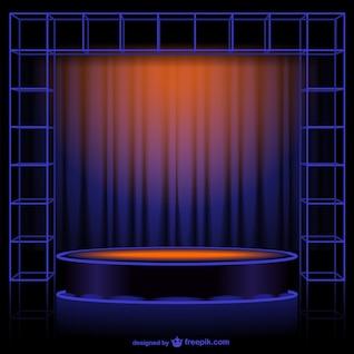 Vector de cortina abstracta