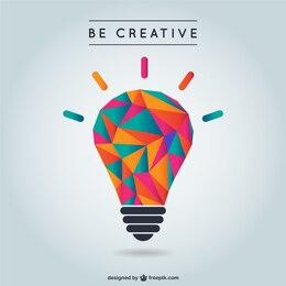 Vector de creatividad con bombilla