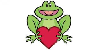 Vector de dibujos animados rana