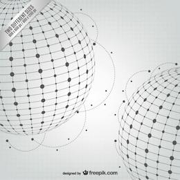 Vector de esferas abstractas
