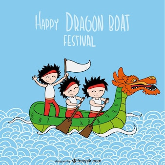 Vector de festival del barco dragón