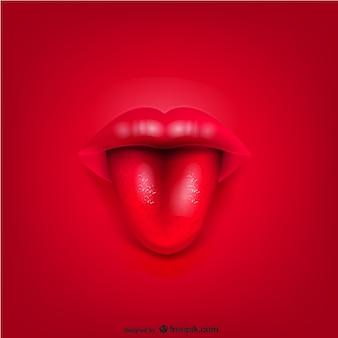 Vector de fondo con boca y lengua