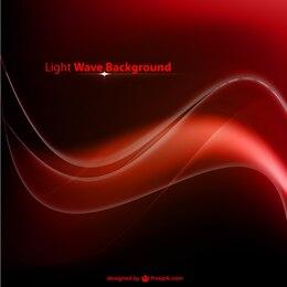 Vector de fondo con onda roja