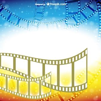 Vector de fondo de cine