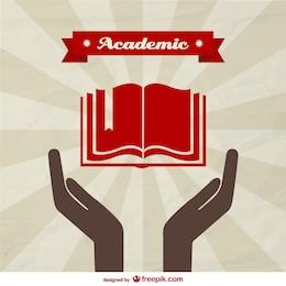 Vector de fondo de temática académica