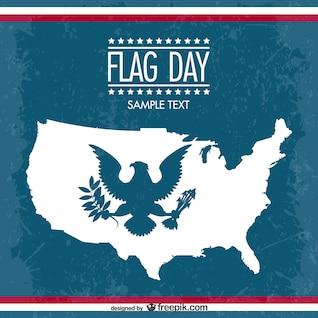 Vector de fondo día de la bandera