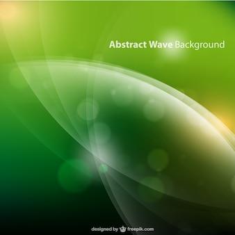 Vector de fondo verde con ondas