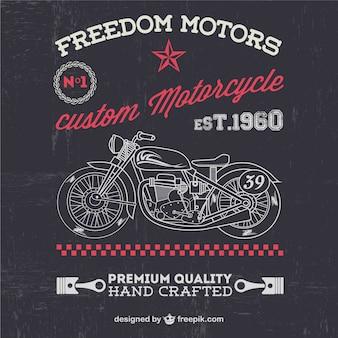 Vector de fondo vintage con motocicleta