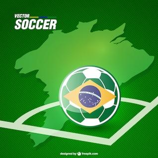 Vector de fútbol de Brasil