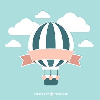 Vector de globo aerostático vintage