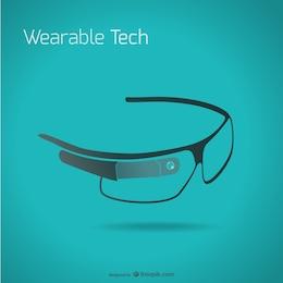 Vector de google glass