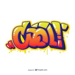 Vector de graffiti abstracto