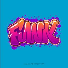 Vector de graffiti funk