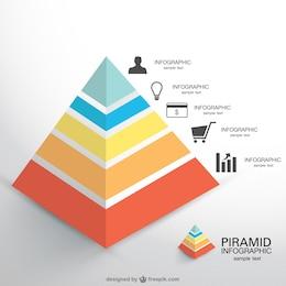 Vector de infografía con forma de pirámide