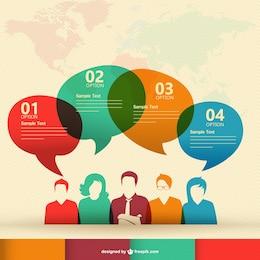 Vector de infografía de comunicación humana