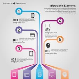 Vector de infografía tecnológica