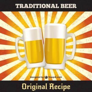 Vector de jarras de cerveza