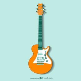 Vector de la guitarra retro