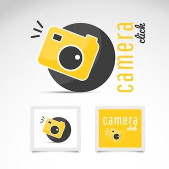 Vector de logo con cámara de fotos