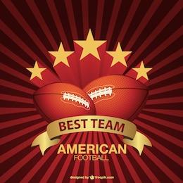 Vector de logo de fútbol de americano