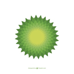 Vector de mandala verde