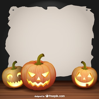 Vector de marco con decoración de Halloween