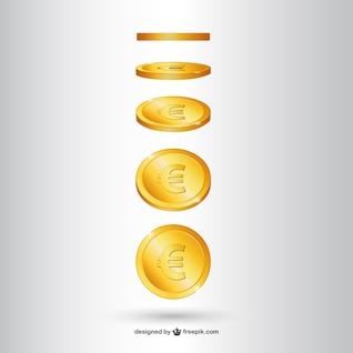 Vector de moneda de oro