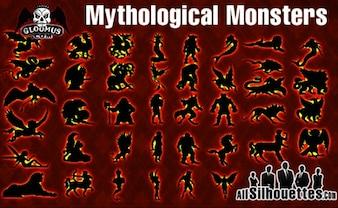 vector de monstruos mitológicos