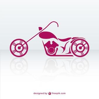 Vector de moto retro