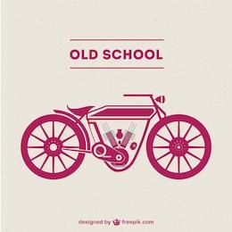 Vector de motocicleta antigua