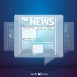 Vector de noticias digitales