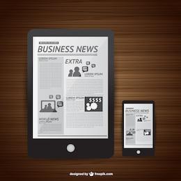 Vector de noticias y nuevas tecnologías