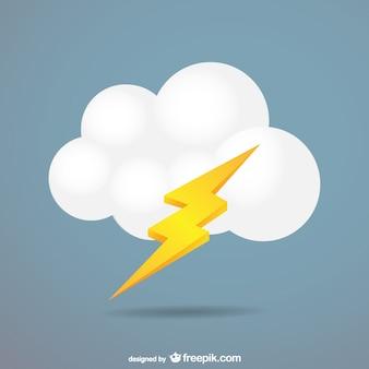 Vector de nube con rayo