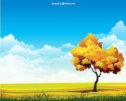 Vector de paisaje de otoño