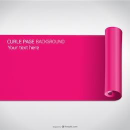 Vector de papel rosa enrollado