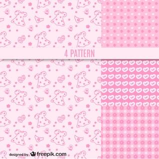 Vector de patrón rosa