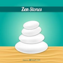Vector de piedras zen