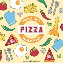 Vector de pizza fresca y sabrosa
